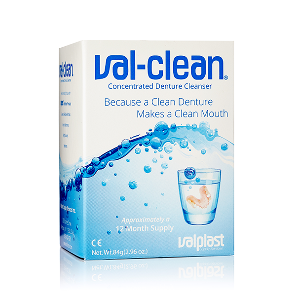 Val-Clean Concentrated Denture Cleanser val-clean, valclean, valplast, denture, partial, acrylic, flexible