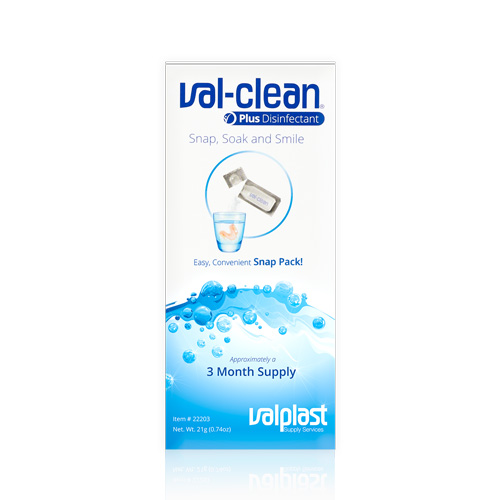 Val-Clean Plus with Disinfectant valclean, val-clean, denture cleaner, valplast cleaner